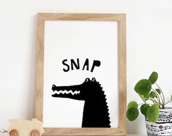 Alligator Print, Nursery Wall Art, Jungle Nursery, African Print, Printable Instant Digital Download, pdf, Wall Art Nursery, Crocodile Print