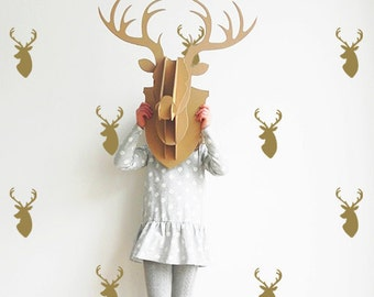 Reindeer Wall Decals - Winter Holiday - Wall Decals - Christmas