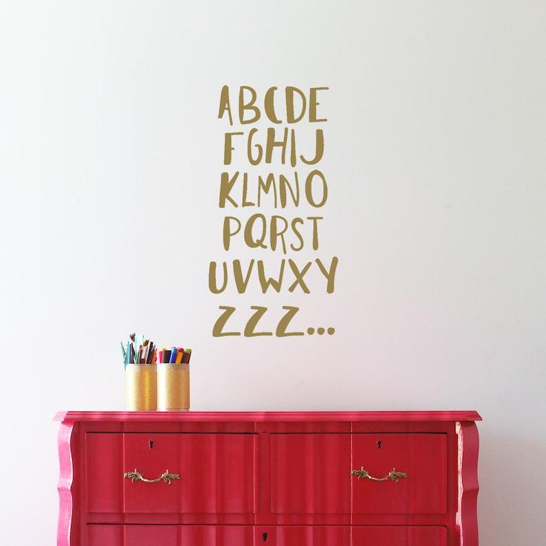 alphabet kids room wall decal abc zzz | etsy