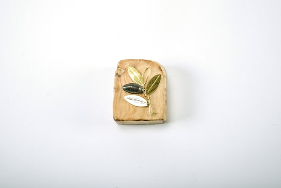 Presse-papier cadeau bronze à la main en bois