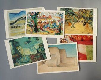 7fd56d475 Set of 6 Vintage 1980s Colletcible Painting Postcards John Marin