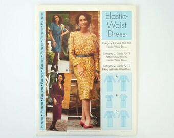 Vintage 1994 Sewing Step by Step Elastic-Waist Dress Pattern