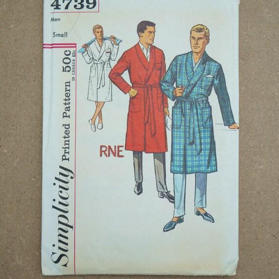 Vintage Einfachheit Papier Nähen Muster 4739 Herren Robe Größe | Etsy