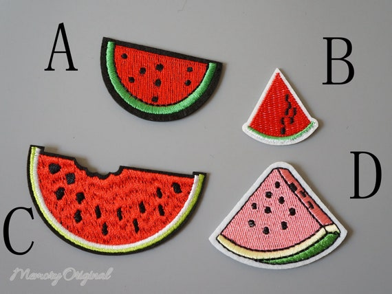 8Pcs Embroidery Fruit Drink Food Hearts Sew//Iron-On Patches Clothing Appliques
