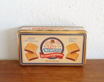 Vintage Fig Newtons 100th Anniversary Collectible Metal Tin 1991