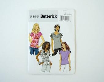 Butterick B5645 Womens Top Paper Sewing Pattern Size XS, S, M