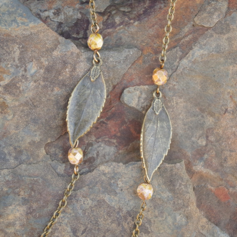 3 Necklace Set Picasso Jasper Pendant /& Tree Charm