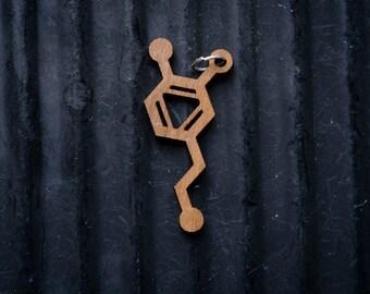 Dopamine Molecule Necklace pendant