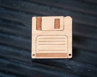 Floppy Disk Badge