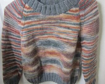 Size 10 Child Sweater, Child Sweater, Unique Child Sweater, Boy's Sweater, Girl's Sweater, Knit Child Sweater, Multi-colored Sweater