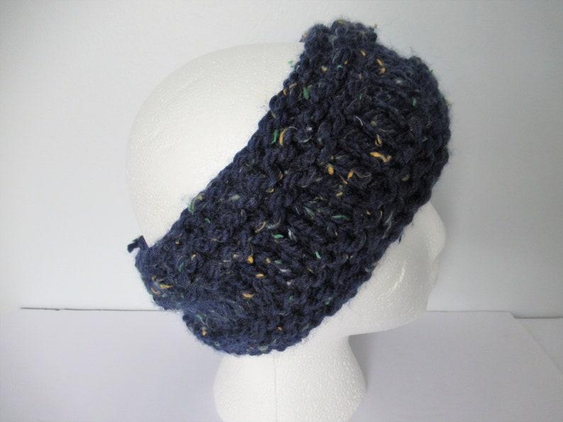 Blue Head Warmer Ear Warmer Head Warmer for Big Head Knit Head Warmer Gift for Runner Knit Ear Warmer Gift around 10 Gift for Her