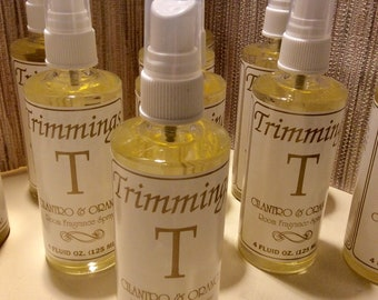 10 TEN bottle of TRIMMINGS Home fragrance spray CIlantro and Orange  NEW