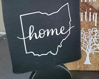 Ohio Home Black Coozie