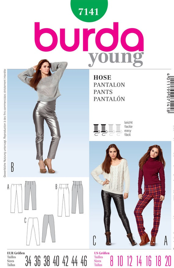 Burda Young 7141 Misses Pants Sewing Pattern / Uncut FF | Etsy