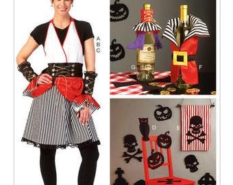 McCall's M7005 Apron, Gauntlets, Hat, Silhouettes, Banner, Bottle Decorations, Chair Leg Decorations Sewing Pattern / Uncut FF