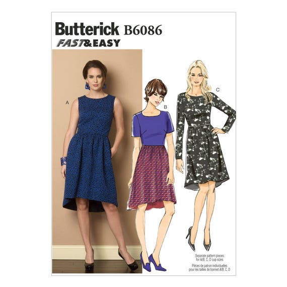 VOGUE SEWING PATTERN 1393 MISSES 14-22 DRESS WITH FLARED SKIRT /& FITTED BODICE
