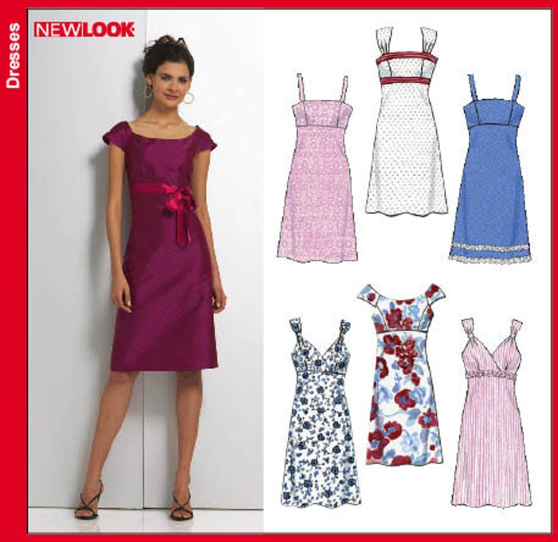 b26b56d32663 New Look 6749 Size 6-16 Misses' Dresses Sewing Pattern / | Etsy