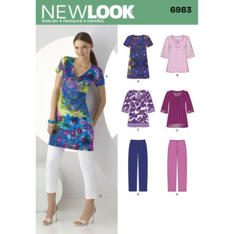 0c12a552d55 New Look 6983 Size 10-22 Misses Tunic Top, Dress, Pants Sewing Pattern /  Uncut FF