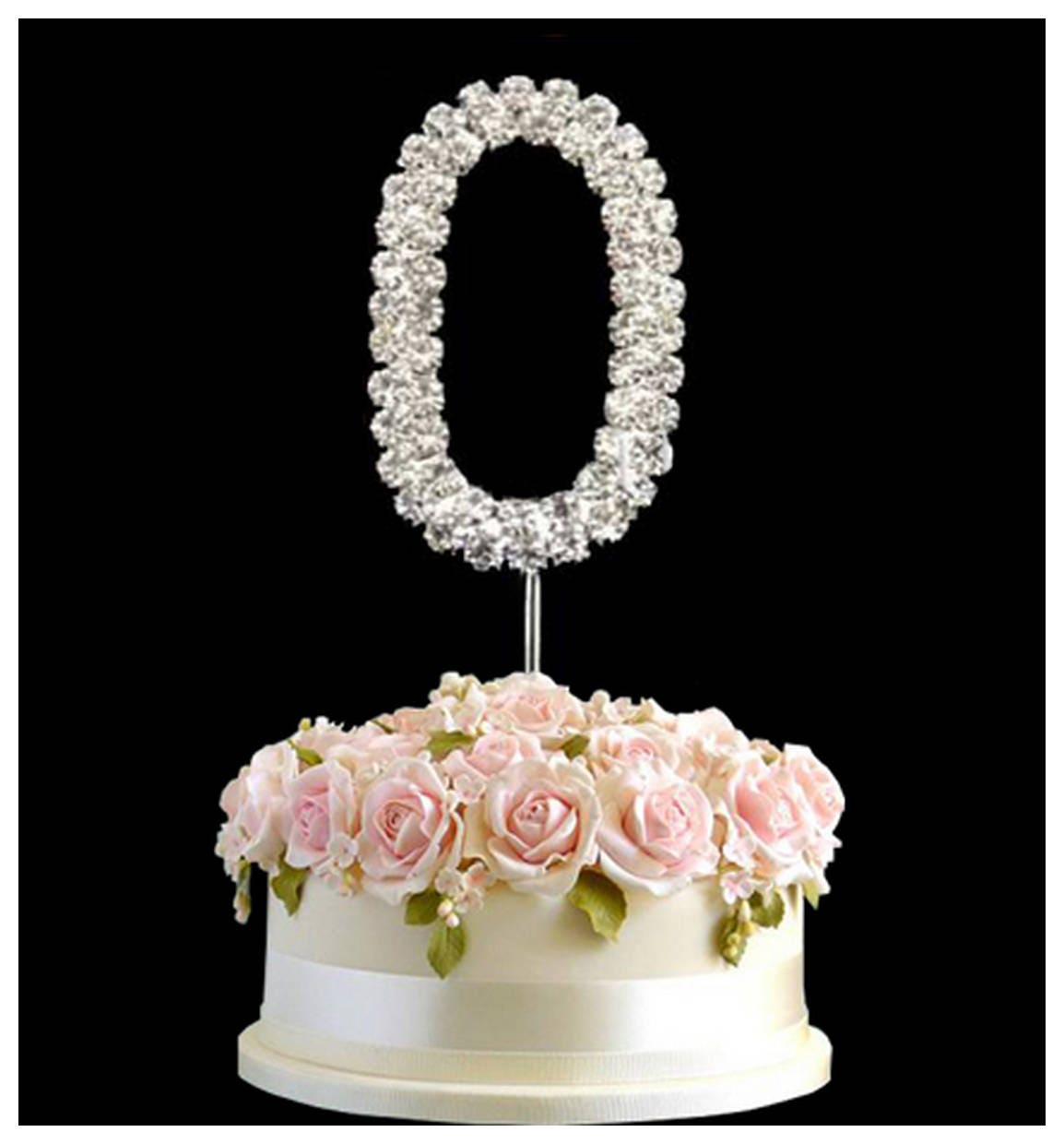 Diamante Rhinestone Cake Pick Topper for Birthday Party Celebration Family Function Cake Decoration in 4 Size Different Colour