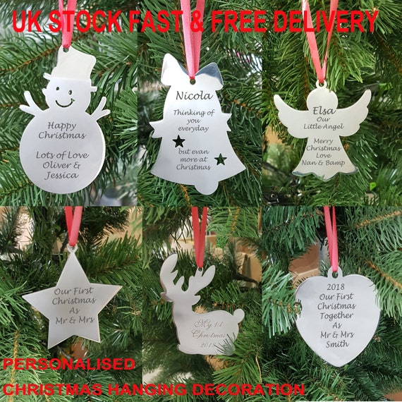 Personalised Our First Christmas Together Bauble Snowman Tree Decoration Gift