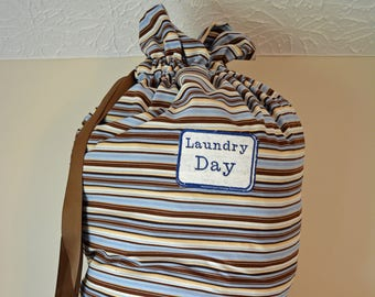 Laundry Bag with Drawstring Closure with option to Personalize