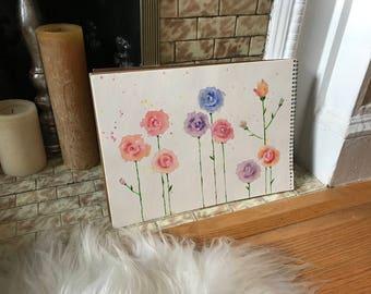 Original Flower Watercolor