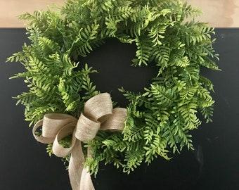 Fern Wreath, Spring Wreath, Summer Wreath, Year Round Wreath, Farmhouse Wreath, Greenery Wreath, Modern Farmhouse, Greenery Wreath, 16 inch