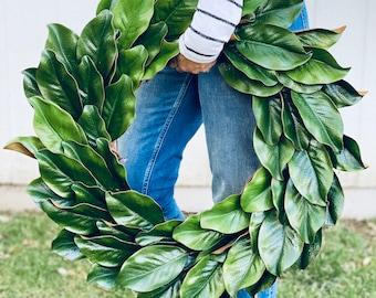 Magnolia Wreath, Farmhouse Wreath, Fixer Upper Wreath, Front Door Wreath, Farmhouse Decor, Year Round Wreath, Modern Farmhouse, All Season