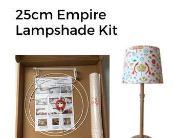 25cm Empire Lampshade Making Kit: make a professional quality lampshade to suit your decor. Home furnishings, interior decorating, renovate!