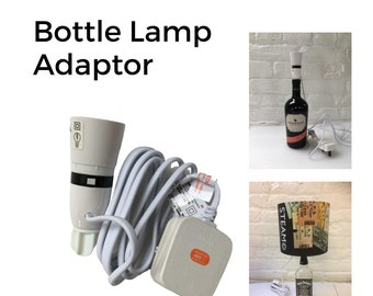 Bottle Lamp Adaptor:  No drilling required - simply push in and switch on!