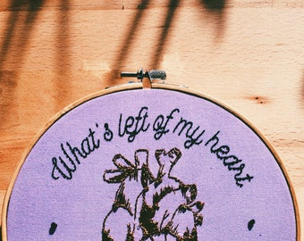 What's Left of My Heart, Embroidery Art