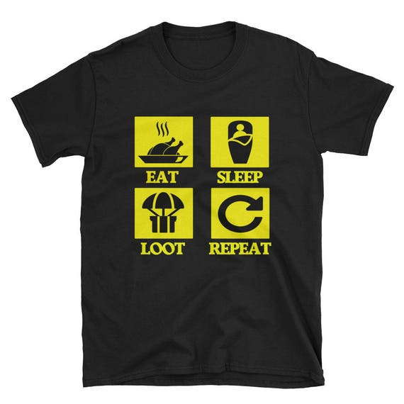 Pubg Gaming T Shirt Playerunknowns Eat Sleep Loot Repeat Unisex Teeperfect Gamer Gift For Boyfriend Or Husband