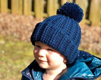 CROCHET PATTERN Ribbed Beanie // Boy Beanie Crochet Pattern // Beanie Crochet // Boy Hat Crochet // Ribbed Boy Beanie Crochet Pattern