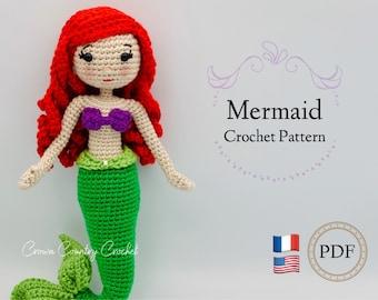 PDF CROCHET PATTERN Mermaid Doll Crochet Pattern // Amigurumi // Mermaid Crochet // Princess Crochet // Doll Crochet // Mythical Crochet