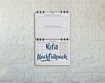 Refill for Back to School Calendar Student Teacher Planner Wall Choose Starting Month Design: Classic Academic German Version