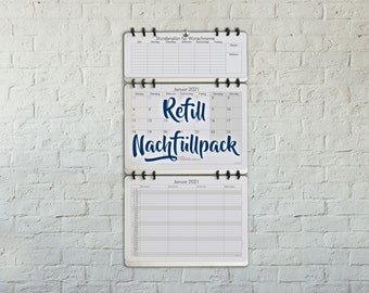 Refill for the Family Monthly Planner Organizer Wall Calendar with Schedule 2019 bigger than A3 size Design: Classic German Version