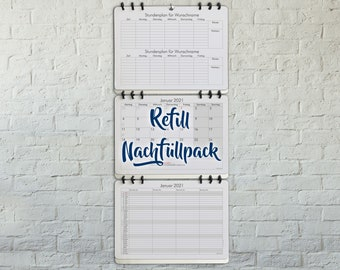 Refill for Back to School Calendar Student Teacher Planner Wall Choose Starting Month Design: Sketch Academic German Version