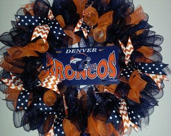 Handmade Broncos Wreath