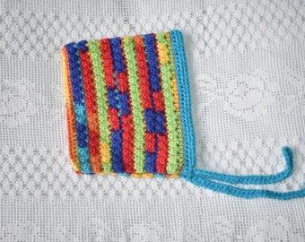 Primary rainbow pixie hood