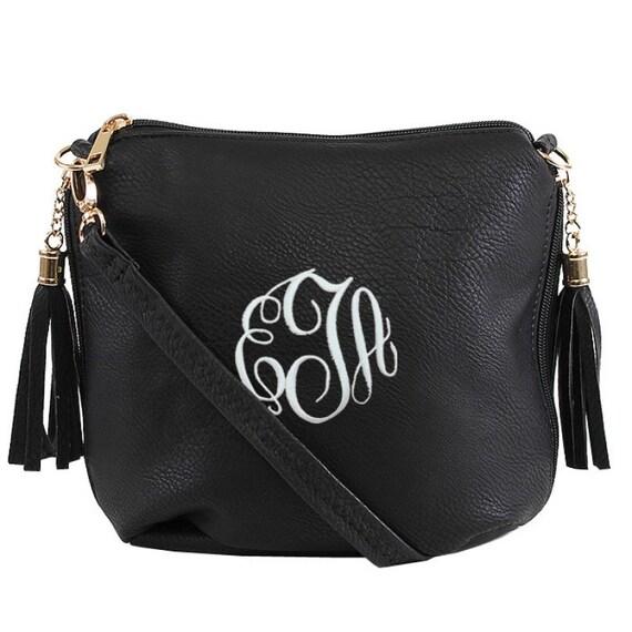 9a3425bf0aee9 SIDE POCKET BAG Black Monogrammed Crossbody Bag