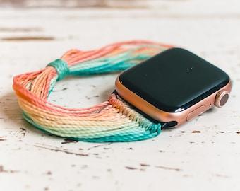 Boho Apple Watch Band- Customizable | 38mm 40mm 42mm 44mm | Inspired by Pura Vida Bracelets | Bohemian Hippie Style