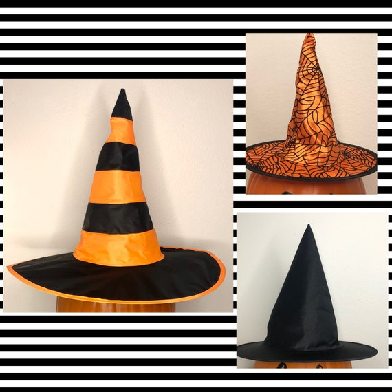 WITCH HATS mini and regular for pumpkin, witch hat decor