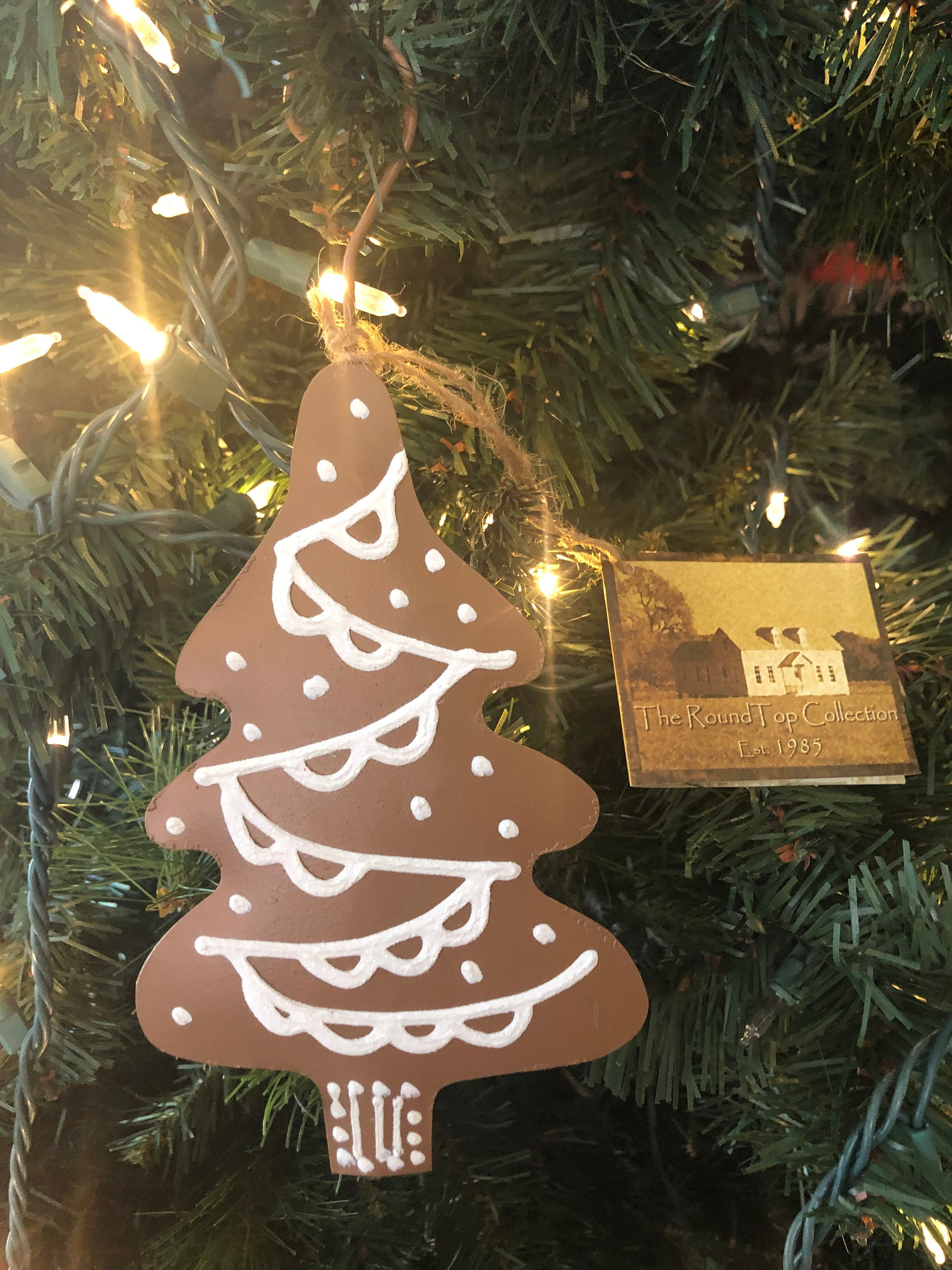 Gingerbread Christmas Tree Metal Ornament Christmas Ornament Christmas Tree Decor Gingerbread Decor Cute Ornament Christmas Tree Sign