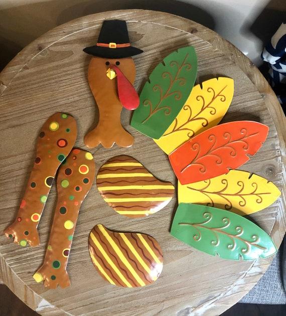 TURKEY WREATH KIT, turkey wreath parts, metal turkey wreath parts, turkey wreath