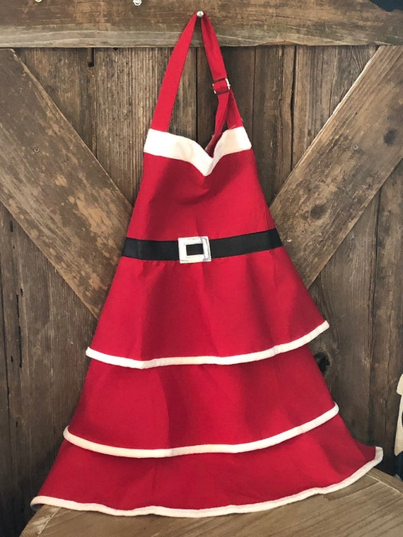Child SANTA APRON, Christmas Child Apron, Christmas Santa Child Apron, Christmas Child Apron, Santa Christmas Child Apron