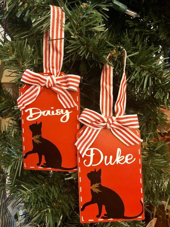 Customized CAT ORNAMENT, CAT Christmas Decor, Cat Decor, Personalized Cat Sign