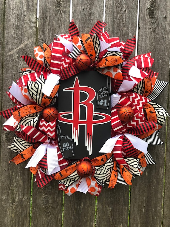 HOUSTON ROCKETS Basketball WREATH, basketball wreath