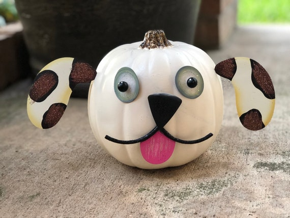 PUPPY PUMPKIN parts for pumpkin, fall dog pumpkin sign, Metal Round Top Collection signs, fall dog pumpkin, fall dog decor, Halloween dog