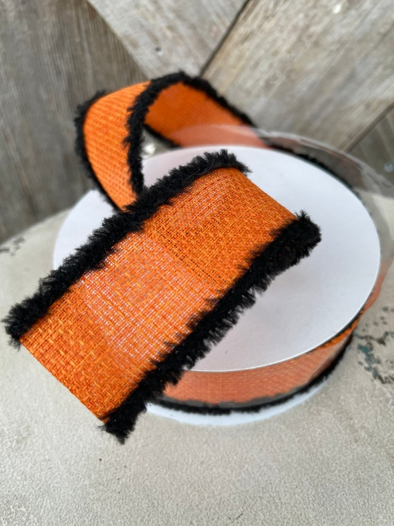 HALLOWEEN BLACK And Orange RIBBON