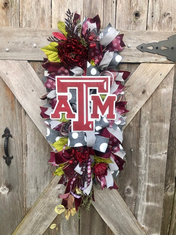 TEXAS AGGIES Wreath, aggie swag, aggie decor, tamu wreath, A&M wreath, aggie wreath